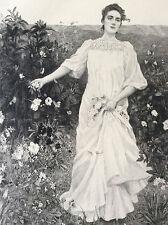 Les parfums Albert Lynch gravure par Manesse Sté des Amis des Arts fin XIX ème