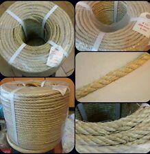 Cuerda soga sisal 6mm x 200mts esparto rascador cabo