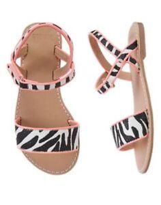 NWT Gymboree Animal Party zebra print Sandals Shoes Sz: 11