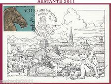 ITALIA MAXIMUM MAXI CARD 1988 MOSTRA FILATELICA BRONZI PERGOLA SETTIMO TOR.SE B9