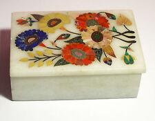 Gorgeous Jewlry Box from Acra, India, crystallized marble w/ semiprecious stones