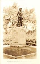 RPPC Minute Man, Concord, MA Minutemen Statue c1910s Vintage Postcard