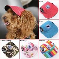 Canvas Summer Small Pet Dog Cat Baseball Visor Hat Puppy Cap Outdoor Sunbonnet