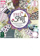 FREE SPIRIT Dovecraft Beautiful 8 x 8 Sample Paper Pack 16 sheets 200 gsm