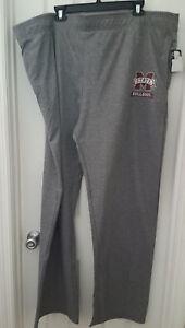 Mississippi State Bulldogs Sweatpants Adult Size 2XL Tall 2XLT Elastic Waist New