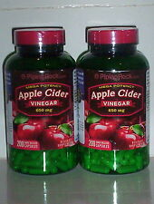 APPLE CIDER VINEGAR 650MG WEIGHT FAT LOSS PURE DIET PILLS SUPPLEMENT 400 CAPSULE