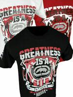 Mens ECKO UNLTD T-Shirt GREATNESS MMA FIGHTER 3D Print in Black White or Red
