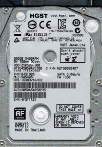 HTS545050A7E380 MLC: DA5405 P/N: 0J31905 500GB HGST