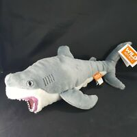 "Wild Republic Great White Shark Plush Stuffed Animal Realistic Rubber Teeth 15"""