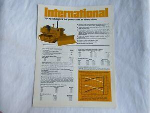 IH International TD-7C crawler tractor brochure
