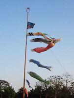 5 Pieces Japanese Windsock Carp Flag Koi Nobori   Streamer Outdoor Decor