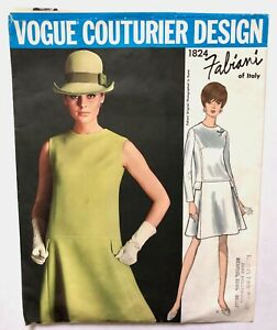 Vintage 1960s FABIANI ITALY Vogue Couturier Design Sewing Pattern Princess Dress