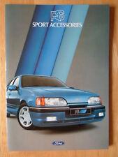 FORD RS Sport Accessories 1987 UK Market brochure - Fiesta Escort Capri Granada