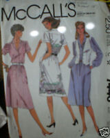 Vintage McCalls Pattern Dress Vest 7440 10 SEWING SEW