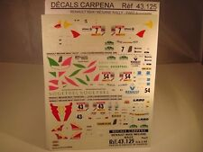 DECALS 1/43 RENAULT MEGANE MAXI RALLY PART 3 - CARPENA  43125