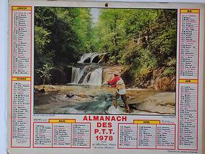 ALMANACH PTT 1978 REGION PARISIENNE - photo CHASSE PECHE