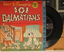 Walt Disney's 101 Dalmatians Golden Record 45 w/ PS Cruella De Ville