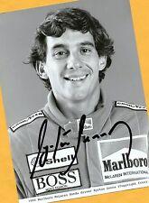 Ayrton SENNA - SUPER Autogramm Bild - Kopie (1) - Print - Copie + AK F1 signiert