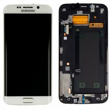 DISPLAY LCD Komplettset TOUCHSCREEN BIANCO PER SAMSUNG GALAXY S6 bordo G920