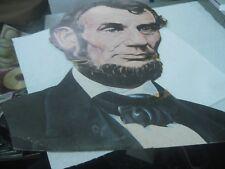 "Vintage Abraham Lincoln Cardboard Classroom Decoration, 16"" x 12"" 1950's, Eureka"