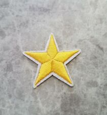STAR PATCH YELLOW IRON ON BADGE APPLIQUE