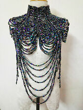 EVITA J002 Showgirl Cabaret Pageant Vegas Drag Bead Pearl Necklace Choker
