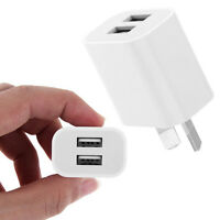 Universal Travel 5V 2A Dual USB AC Wall Home Charger Power Adapter AU Plug White