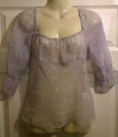 Ladies pretty floaty lilac top by NAUGHTY designer Size 8 10 12 14 16  NEW BNWT