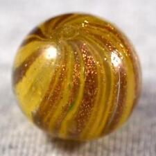 "RARE BEAUTIFUL OLD GERMAN ONIONSKIN LUTZ MARBLE < 25/32"" (.772"") HEAVY LUTZ 360°"