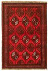"""Vintage Hand-Knotted Carpet 3'5"""" x 5'4"""" Traditional Oriental Wool Area Rug"""