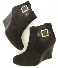 Tory Burch Suede Wedge Brown Ankle Booties Size US10 Retail $595