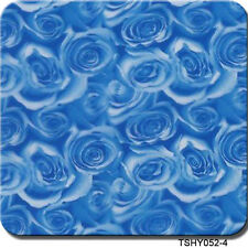 "Hydrographics Film Blue Roses 20"" x 6.5'"