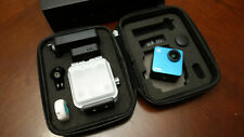 Mokacam - Smallest 4K Action Camera (Blue) (with battery, screen, underwater)