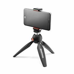 Manfrotto PIXI Mini Tripod Kit with Universal Smartphone Clamp, Black (MKPIXI...