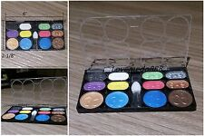 Travel size 12 Color Eyeshadow Shimmer Glitter Palette Cosmetic Makeup set Brush