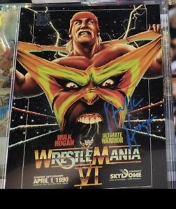 Hulk Hogan Signed Wrestlemania VI Photo Hulk Hogan Hologram Certified