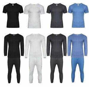 Mens Thermal Long Johns Short & Long Sleeve T-Shirts Warm Underwear Baselayer