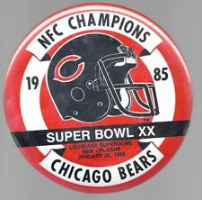 CHICAGO BEARS SUPER BOWL XX NFC CHAMPIONS GIANT 6 INCH FOOTBALL PIN