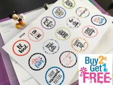 PP404 -- Motivational Quotes Planner Stickers for Erin Condren (15pcs)