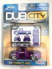 Jada Dub City Old Skool '56 1956 Ford F-100 Pick Up Truck Purple Diecast 1/64
