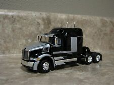 DCP 1/64 Black Silver Western Star 5700XE Mid Roof Semi Truck Farm Toy