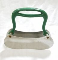 Vintage primitive double blade stainless steel herb chopper USA farm house