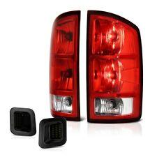 02-06 Dodge Ram LH RH Side Tail Lamp w/Circuit Board+Smoke License Plate Light