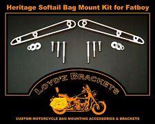 Loyd'z Brackets: Mount Stock Harley Davidson (HD) Saddle Bags on HD Fatboy