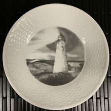 Wedgwood NANTUCKET GREAT POINT LIGHTHOUSE Accent Luncheon Plate