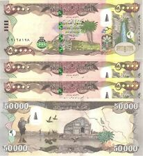 250,000 MINT IRAQ 5 x 50000=250,000 NEW IRAQI DINAR IQD 2015-CERTIFIED!