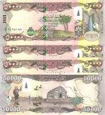QUARTER MILLION MINT IRAQ 5 x 50000=250,000 NEW IRAQI DINAR IQD 2015-CERTIFIED!
