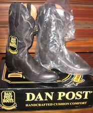 NEW Dan Post Cowboy Boots Men's 9D BLACK ~Saddle Braid~ New w/Tags and BOX