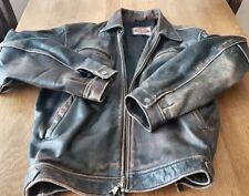 VTG Rare PALL MALL Distressed Leather Biker Flight Pilot Flying Legend Jacket L