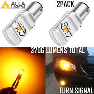 Alla Lighting LED 1157 Turn Signal|Side Marker Light Bulb Bright Yellow Blinker